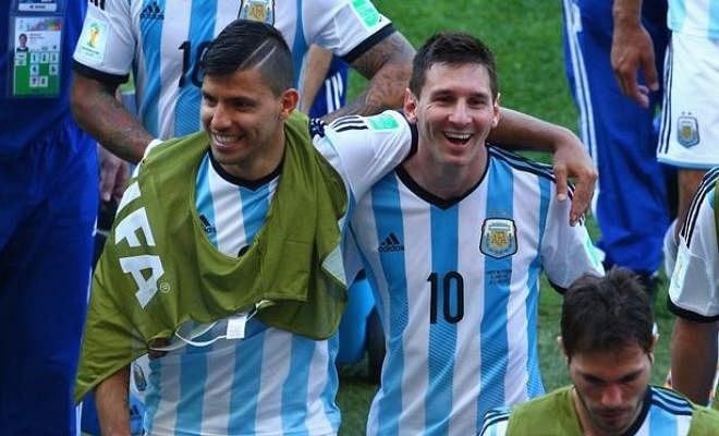 AGUERO HOPES MESSI HAS A BAD DAY AGAINST MANCHESTER CITYMan City forward Sergio Aguero hopes that his compatriot Leo Messi does not have a good game against Manchester City, and he said
