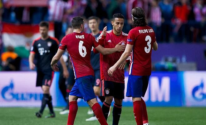 THIAGO SAYS ATLETICO HAVE THE BEST DEFENCEThe Bayern midfielder feels Atletico have the strongest backline as Bayern take on Atletico Madrid in the Champions League clash tonight.