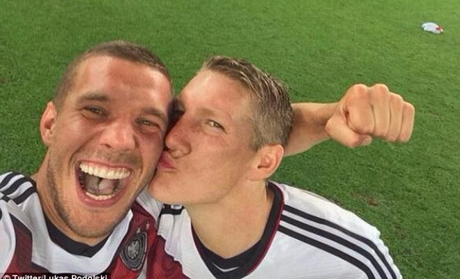 PODOLSKI FROWNS UPON MOURINHO'S TREATMENT OF SCHWEINSTEIGERLukas Podolski has disagreed with Jose Mourinho's treatment of Schweinsteiger and he said