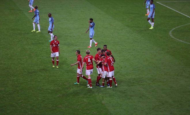 83' Bayern celebrating the goal
