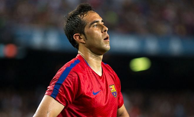 Claudio Bravo to stay, as of now.Claudio Bravo will not leave Barcelona before their first league game of the season, according to the club's sporting director Robert Fernandez. Bravo is reportedly closing in on a £17m move to Manchester City, but Barca plan to field him against Real Betis in their opening La Liga fixture on Saturday with Ter Stegen currently out injured.