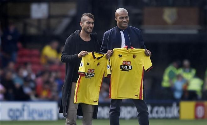 Hornets confirm two new summer signingsWatford have completed the signing of Sunderland defender Younes Kaboul and Roberto Pereyra from Juventus on a club record transfer fee.
