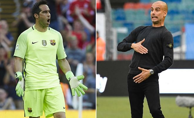 Claudio Bravo move to Man City gets closer Barcelona allowed Claudio Bravo to miss training yesterday to complete his move to Manchester City, reports the Sun. Everton are the favourites to sign Joe Hart, but City want at least £30m for the England international.