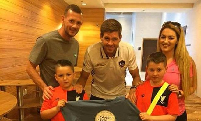 Gerrard makes a fan's dream come true. If you thought Gerrard was a legend before now you will love him even more! The Liverpool made the day of a young boy who is suffering from a  terminal illness:  Full Story: https://www.sportskeeda.com/football/steven-gerrard-makes-dreams-come-true-for-10-year-old-boy-battling-leukemia