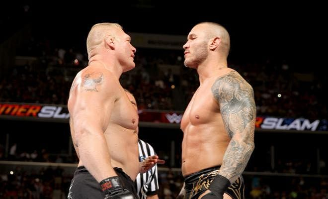 Brock Lesnar faces Randy Orton in a rematch, tonight!