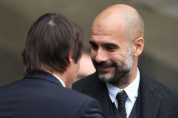 Pep Guardiola and Antonio Conte