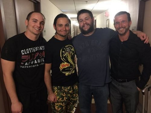 The Young Bucks with Kevin Owens and Adam Cole