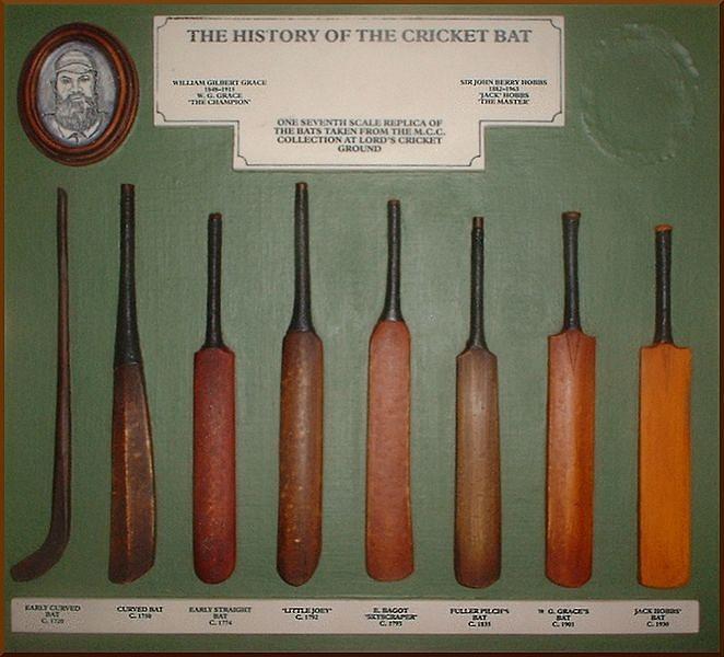 Olden bats looked more like hockey sticks. Credits: Wikipedia