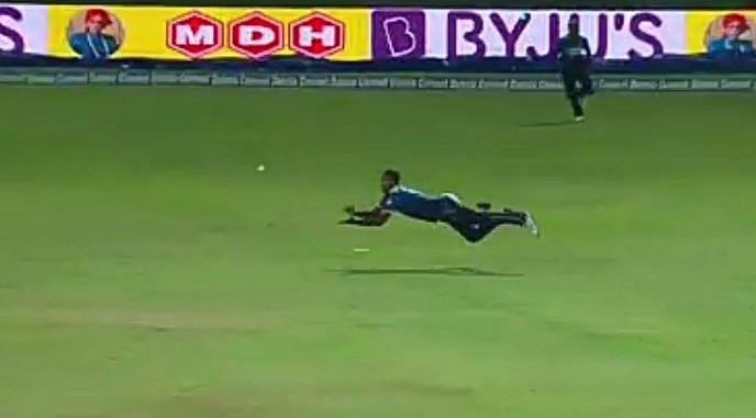 Angelo Mathews turned the match on its head with a stupendous catch