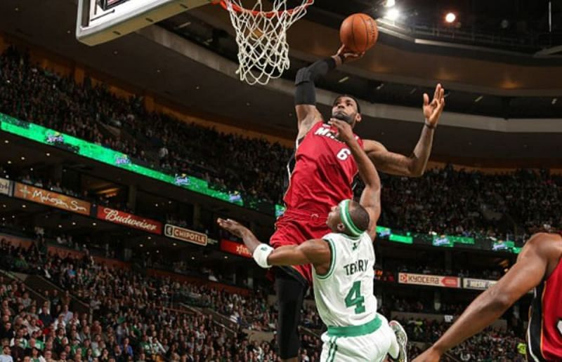 LeBron James dunks on Jason Terry. (Image Source: Complex.com)
