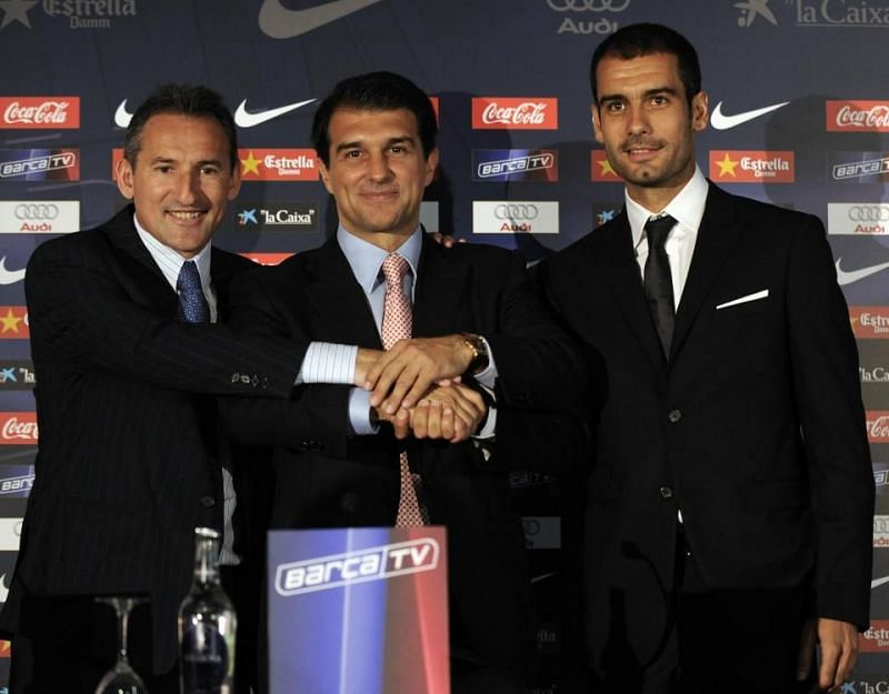 Guardiola's appointment in 2008
