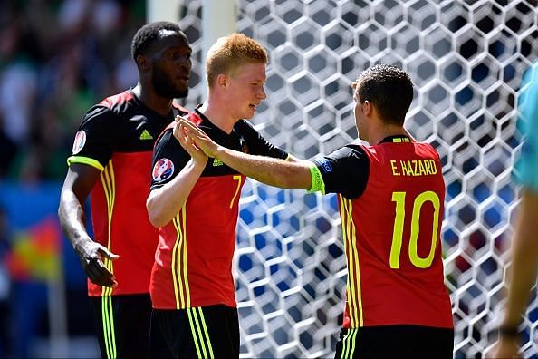 The trio of Lukaku, Hazard and De Bruyne