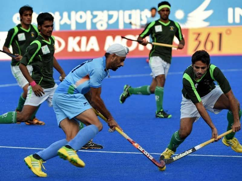 India and Pakistan in action in the first encounter