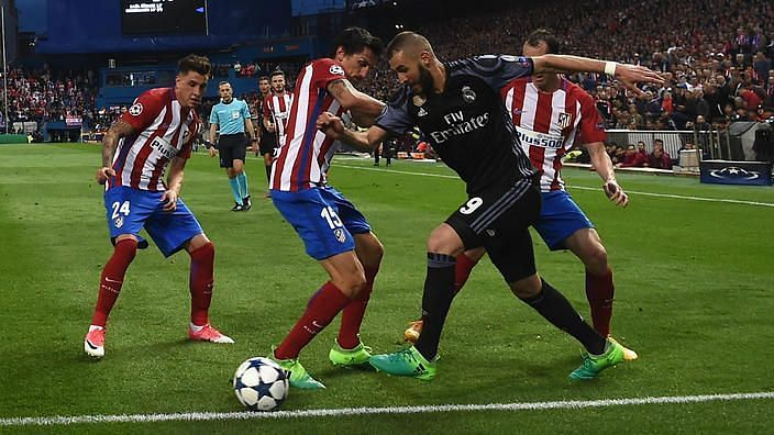 Image result for benzema atletico skill getty