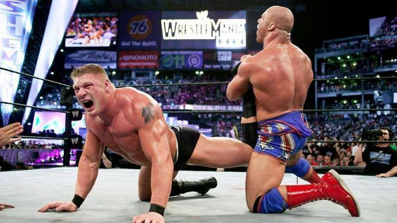 Kurt Angle vs Brock Lesnar at Wrestlemania
