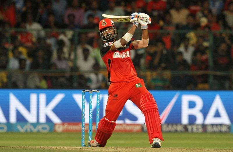 KL Rahul in action for RCB