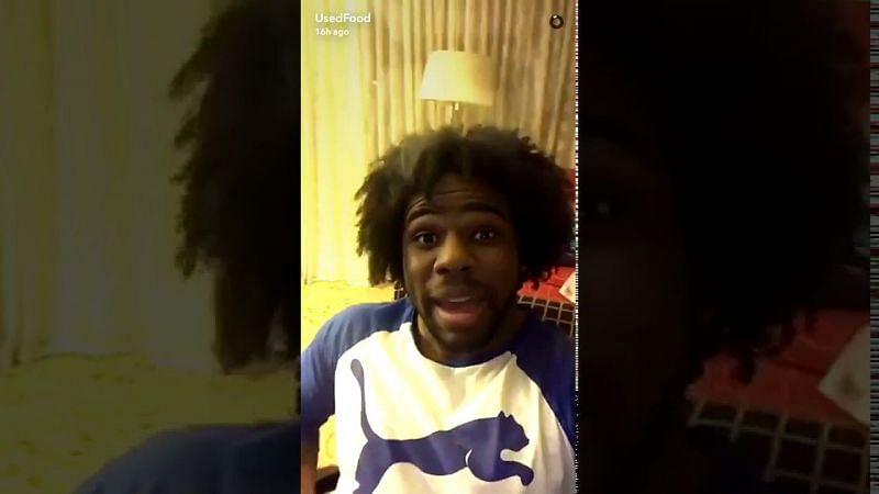 Xavier Woods on Snapchat