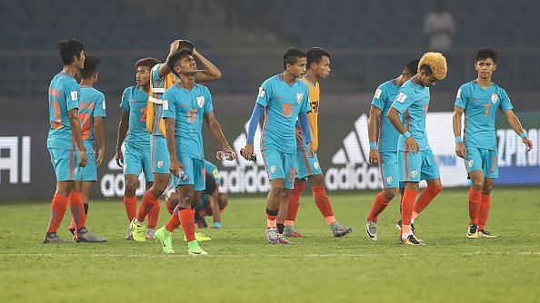 India ended their World Cup campaign with a heavy defeat to Ghana