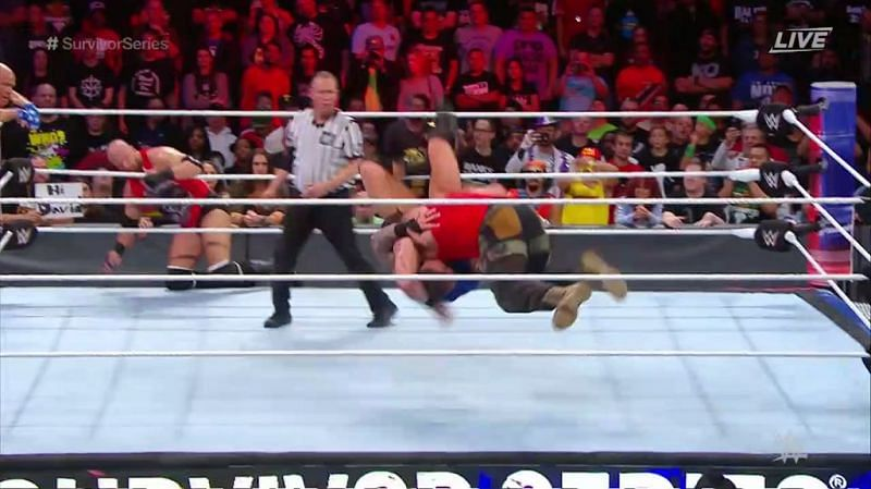 Braun Strowman delivered the Running Powerslam to eliminate the Viper
