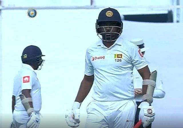 Dilruwan was given a signal by the Sri lankan dressing room