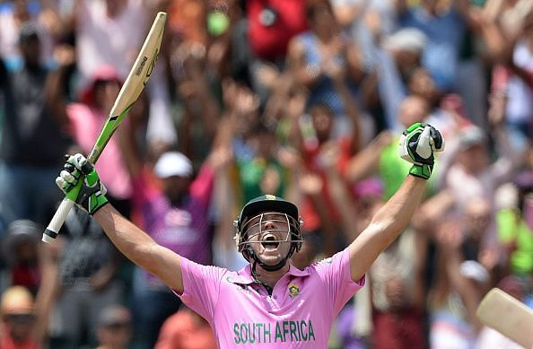 De Villiers came in to bat in the 39th over and scored 149 off just 44 deliveries