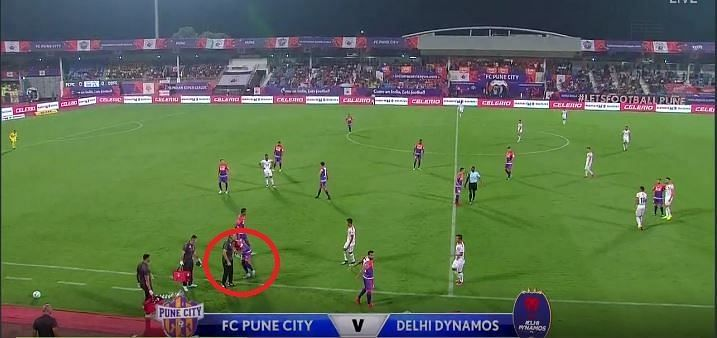 Pune complete the substitution (Image courtesy: Hotstar)