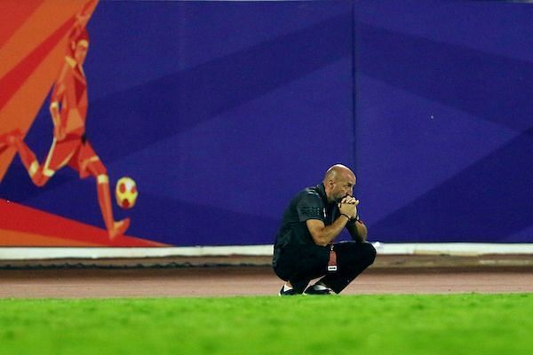 The Pune manager was a frustrated man after the match (Image courtesy: ISL)