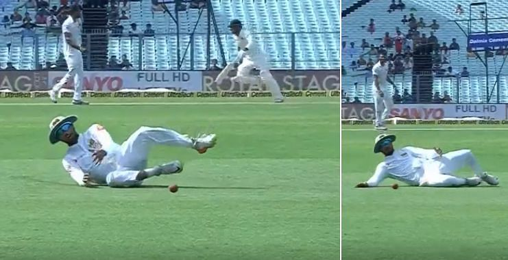 Chandimal dived when he was nowhere near the ball