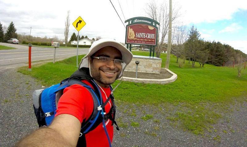 Sainte-Croix. 60 km in to Day 1. 24 km still to go.