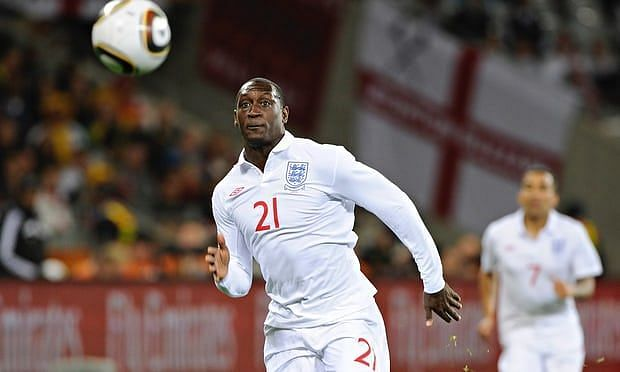Emile Heskey in action for England (PC: www.theguardian.com)