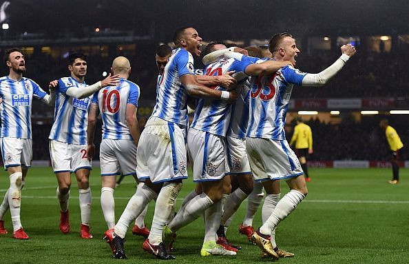 Huddersfield finally turned up on their travels