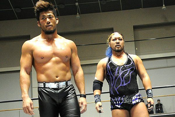 Evil and Sanada are also the current Never Tag Team Champions