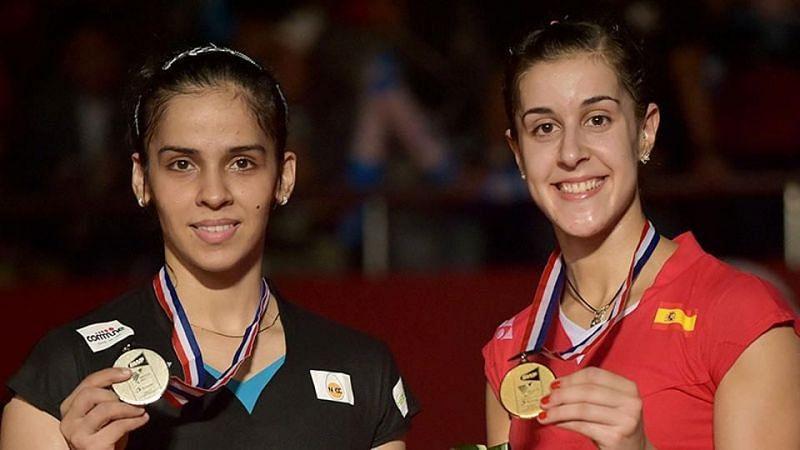 Saina Nehwal and Carolina Marin