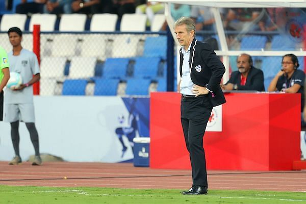 Bengaluru FC coach Albert Roca was not a happy man after losing to Chennaiyin (Image: ISL)