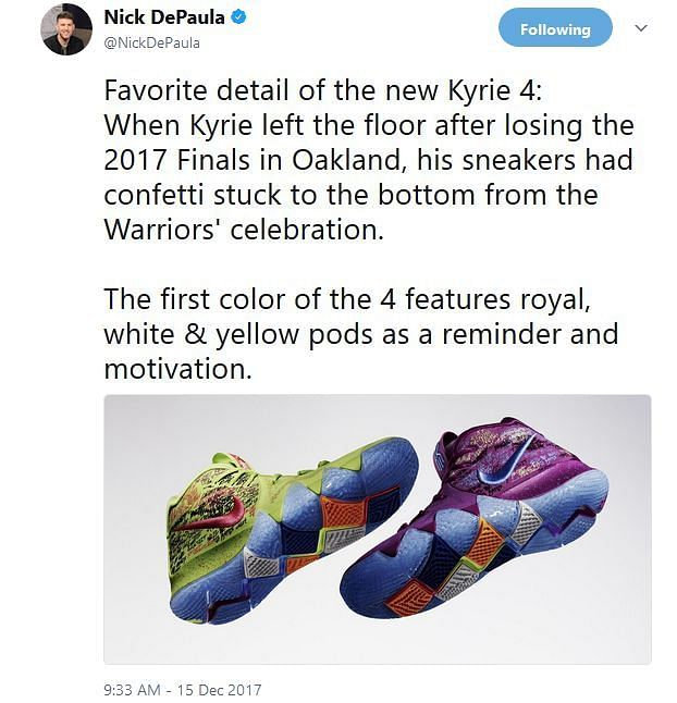 Kyrie Irving's latest NIKE Shoes Kyrie