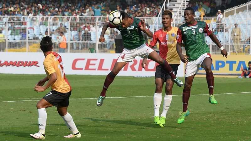 Kingshuk Debnath was solid at the back for the visitors (Photo: I-League)