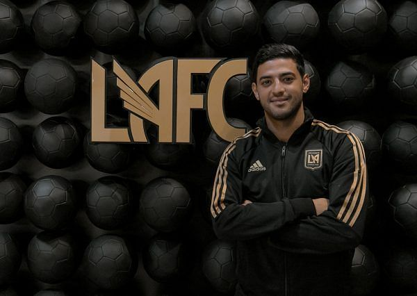 Carlos Vela being unveiled as an LAFC player