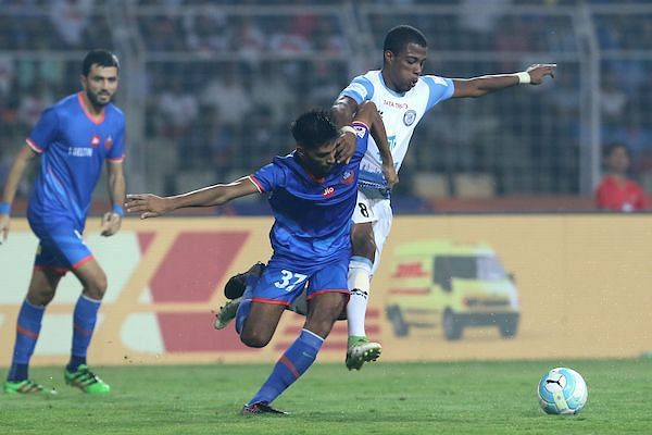Jamshedpur were always at the heels of the Goa players. (Photo: ISL)