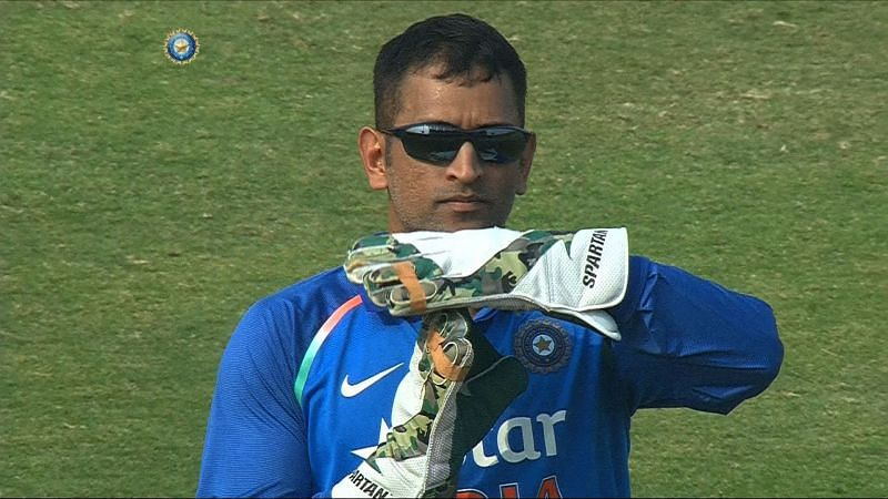 Dhoni asking for a review
