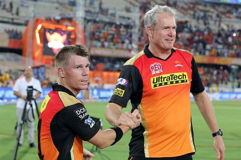 Image result for David Warner and Tom Moody – Sunrisers Hyderabad