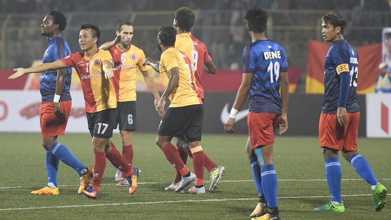 East Bengal FC won 3-2 against Churchill Brothers Fc , Willis Plaza scored the injury time winner.