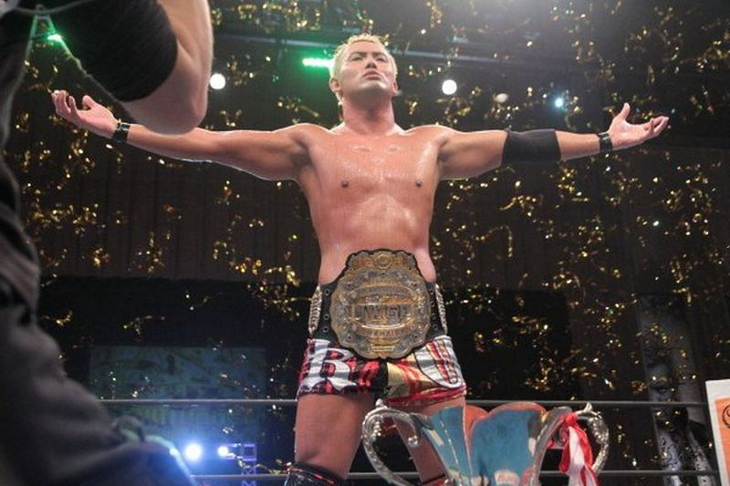 Kazuchika Okada defended the IWGP Heavyweight Title against SANADA in the main event of New Beginning in Osaka