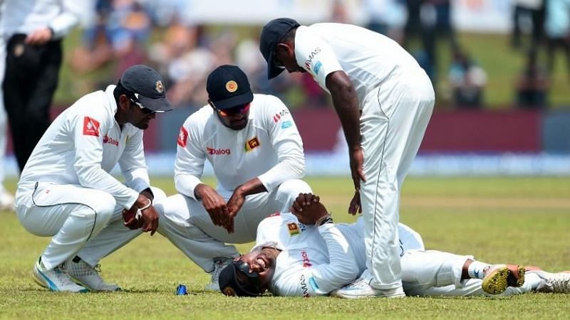 Gunaratne broke his left thumb in two places while putting down a catch during the first Test of India