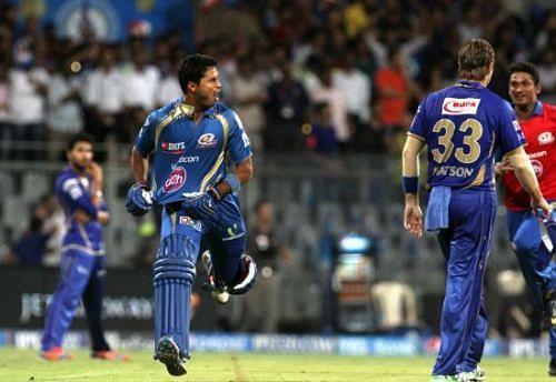 Aditya Tare emerged as the hero for Mumbai Indians that night