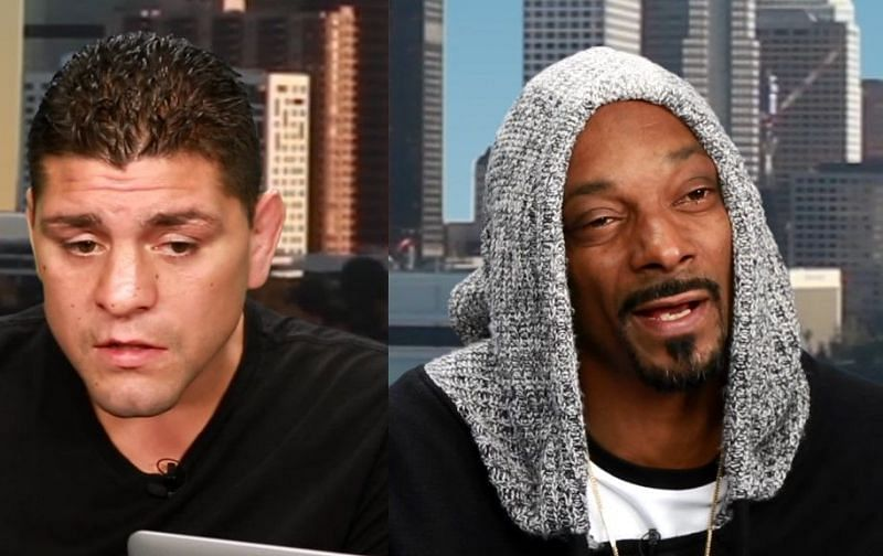 Snoop Dogg (Right) is no stranger to the world of MMA