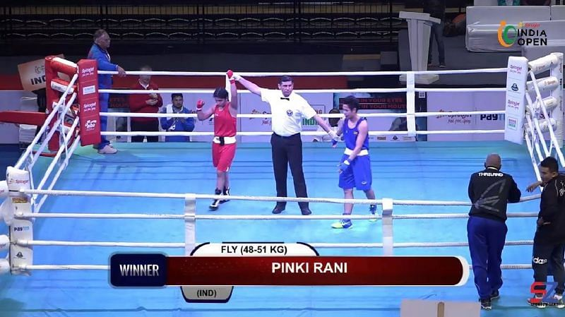 Pinki Jangra 5-0 win over Thailand boxer in Semi-Final