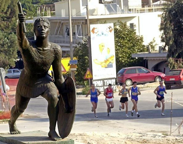 Runners Take Orginal Route In Athens Marathon