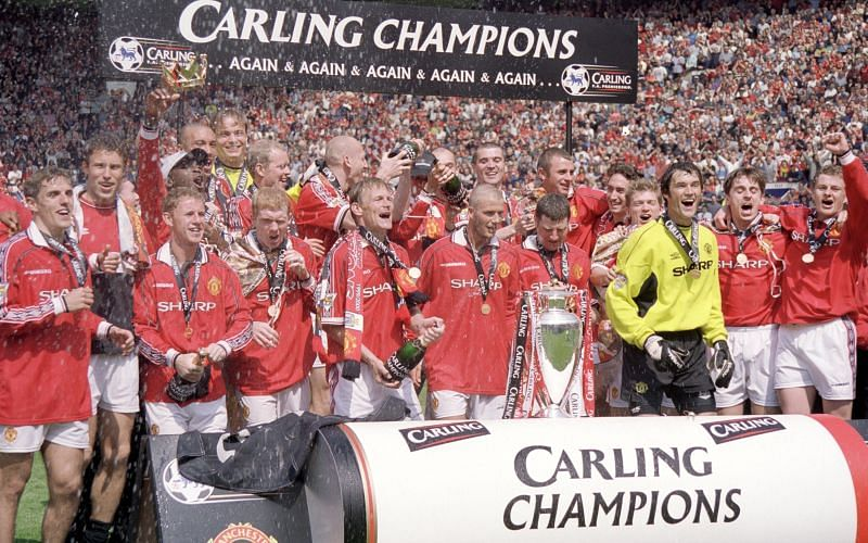 Manchester United being crowned as the first-ever millennial champions of England.