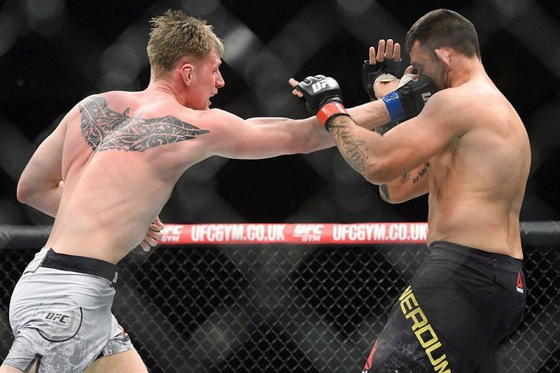 Alexander Volkov knocked out Fabricio Werdum to end the show with an upset