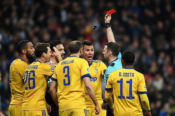 Buffon red card